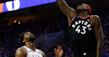 Pascal Siakam Listed as Doubtful for Sixers-Raptors Game 4