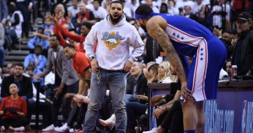 Raptors Fan Drake Found a Way to Use His Own Curse on the Sixers