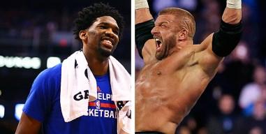 Joel Embiid Gets Shoutout From Favorite Wrestler