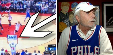 Who Is the Sixers Fan With White Hair Sitting Courtside? That's Alan Horwitz