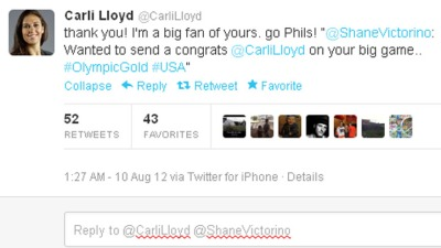 Carli Lloyd Doesn't Realize Shane Got Traded