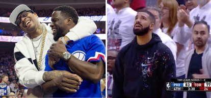 Kevin Hart Curses at Drake Over Sixers Loss to Raptors