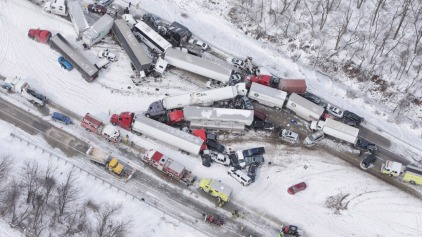 Snow Squall Causes Massive, Deadly Pileup on I-78