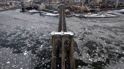 9 Stunning Aerial Photographs of Frozen NYC