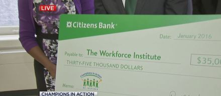 'The Workforce Institute' Presented With $35K Check