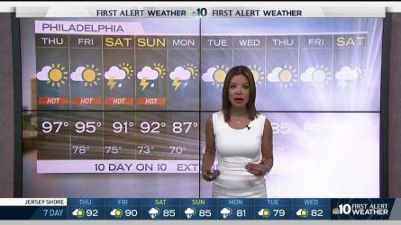 <p>NBC10 First Alert Weather meteorologist Erika Martin is tracking potentially dangerous heat that has led to a First Alert for the entire region.</p>