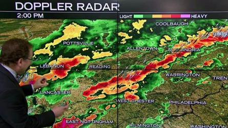 <p>NBC10 First Alert Weather meteorologist Glenn &quot;Hurricane&quot; Schwartz is tracking severe storms pushing across the region Tuesday.</p>