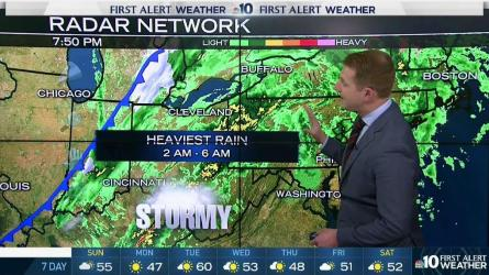 <p>NBC10 First Alert Weather meteorologist Steve Sosna is tracking evening showers and heavy wind for our area. Check out his forecast.</p>