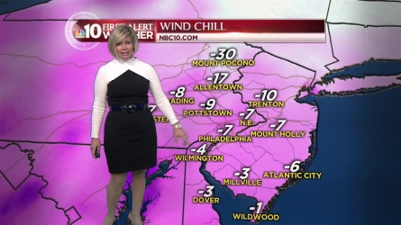 The Philadelphia area experienced near-record temperatures overnight Saturday into Sunday, with temperatures in most areas staying in single digits. When will we warm up? NBC10 First Alert Meteorologist has details on that and on a winter storm moving our way.