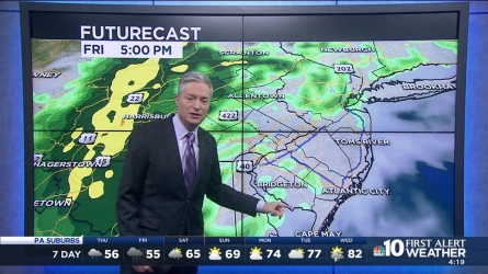 More wet weather for the end of the week. NBC10's First Alert Neighborhood Weather meteorologist Bill Henley has more.