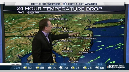 "Will conditions stay beautiful for the NFL Draft? NBC10 First Alert Weather Chief Meteorologist Glenn ""Hurricane"" Schwartz has the update on summer-like temperatures in our region."