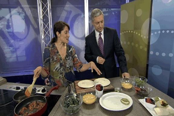 Egg Burrito with Chorizo and Kale