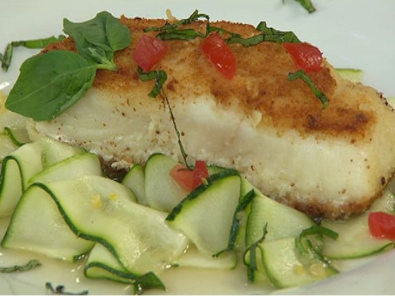 Crispy Halibut With Lemon Basil