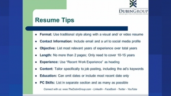 job hunting for the more mature worker resume tips