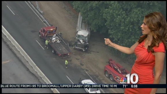 Tractor-Trailer Crash on Pa  Turnpike
