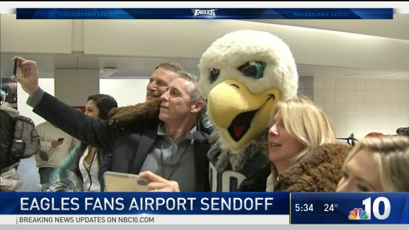 Swoop Sends Traveling Eagles Fans Off In Style Nbc 10 Philadelphia