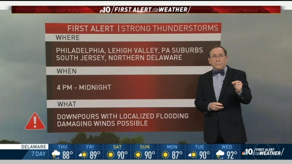 First Alert for Potentially Strong Storms