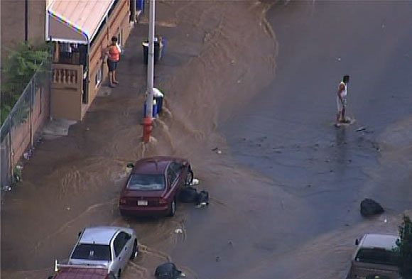 Water Main Break in North Philadelphia