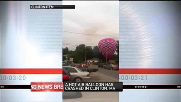 [NECN] Hot Air Balloon Crashes Into Wires