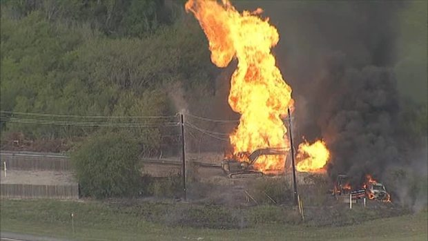 [DFW] RAW VIDEO: Gas Line Explodes in Collin County