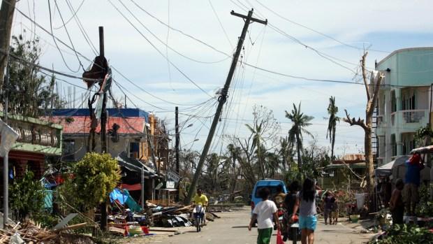 Typhoon Hits People Hard Here
