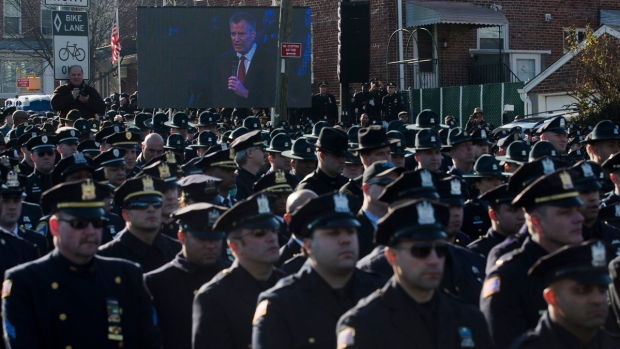 [PHI] Philly Police Attend Funeral of NYPD Officer