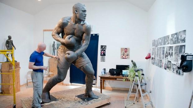 """Smokin' Joe"" Frazier Statue Rising in Philly"