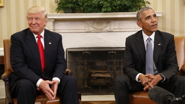 WATCH: Obama Welcomes Trump to the White House