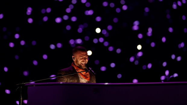[NATL] Justin Timberlake Performs at the Super Bowl LII Halftime Show