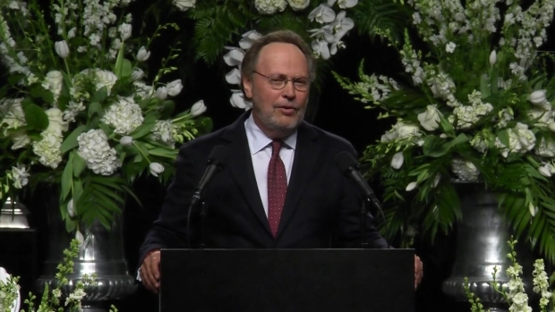 Billy Crystal Tells Joke of Howard Cosell's Wig at Muhammad Ali's Funeral