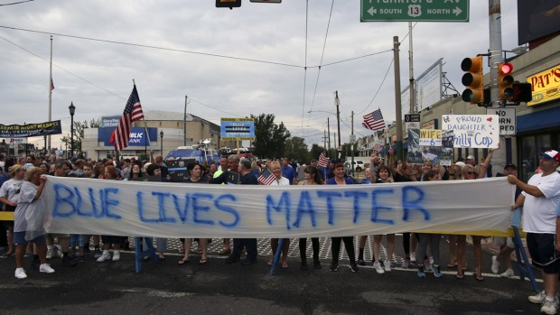 Philly Residents Show Support for Police During Rally