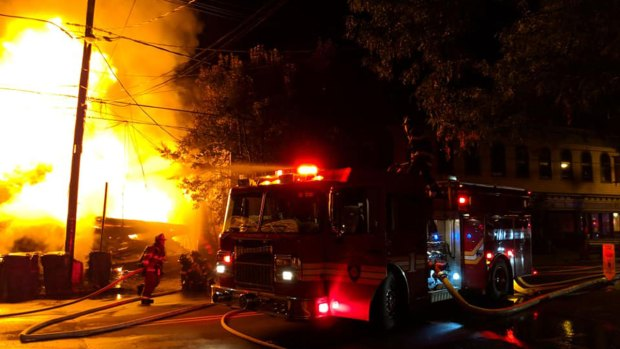 Dramatic Images: Massive Building Fire in Frenchtown, NJ