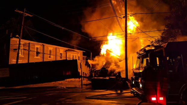 Firefighters Battle New Jersey Building Fire