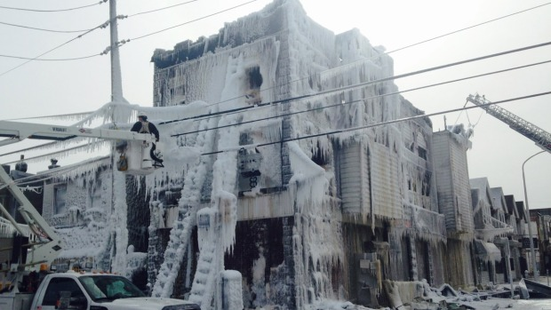 Buildings Freeze Over After West Philly Fire