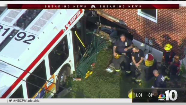 [PHI] Bus Barrels Onto Lawn, Kills Man at Kiddie Pool