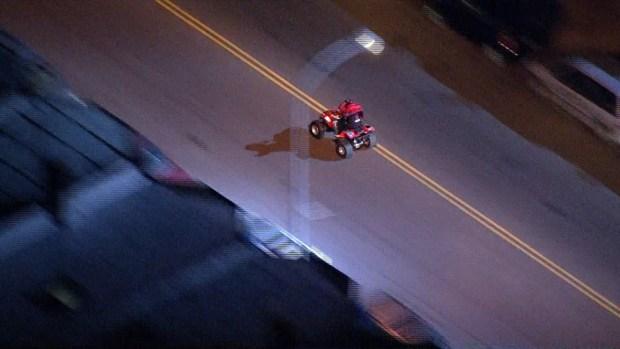 Police Chase ATV Rider Through North Philadelphia