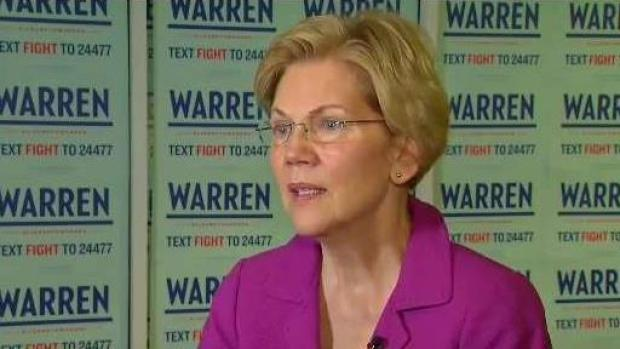 [NATL NECN] Catching Up With Sen. Elizabeth Warren
