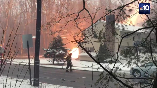 Downed Power Lines Spark Lawn Fire
