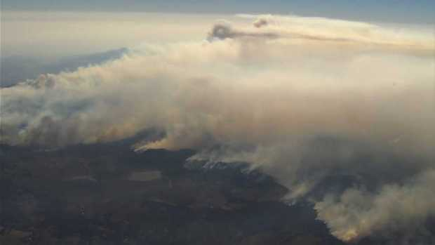 RAW: Aerial Footage Depicts Scope of North Bay Fires