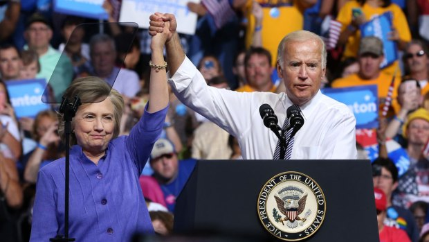 [PHI] Hillary Clinton and VP Joe Biden Hit Campaign Trail in Scranton