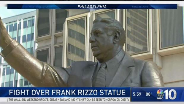 Frank Rizzo statue defaced with spray paint