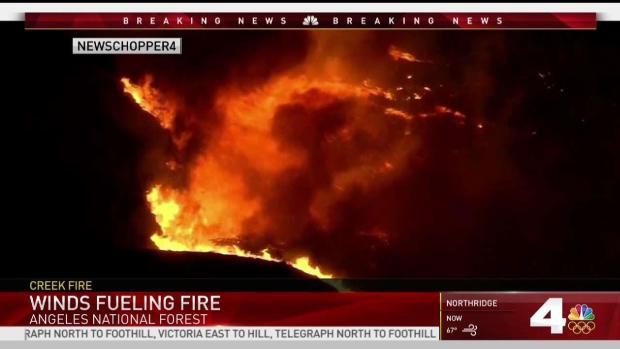 [NATL-LA] Creek Fire Destroys 30 Structures Injures Firefighters