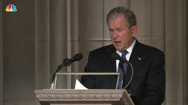 [NATL] 'I Love You Too': George W. Bush Remembers Dad's Last Words