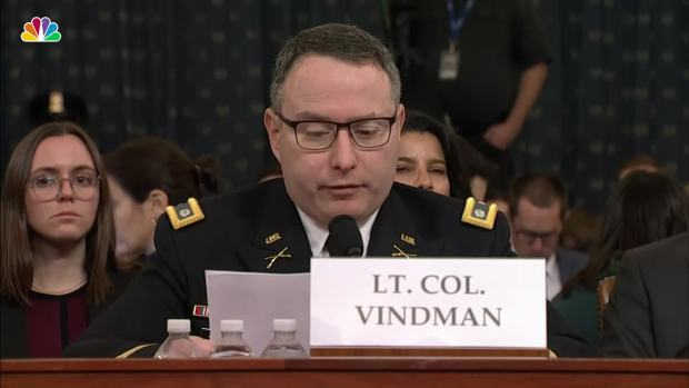 [NATL] Lt. Col. Vindman Expresses Concerns About Trump's Call with Ukrainian President