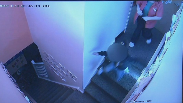 State Investigates Day Care After Woman is Caught on Camera Shoving Child Down Stairs