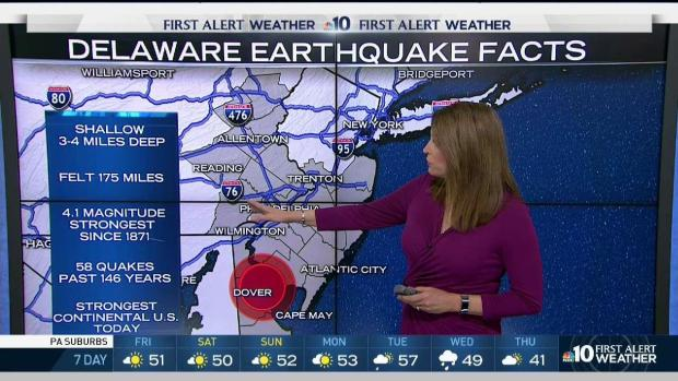 Delaware Earthquake Facts