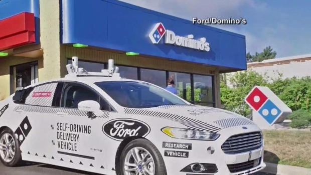 [NATL-NY] Domino's Tries Out Self-Driving Pizza Delivery