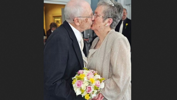 Elderly Couple Gets Married