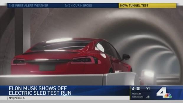 Elon Musk Reveals Test Run of Electric Sled