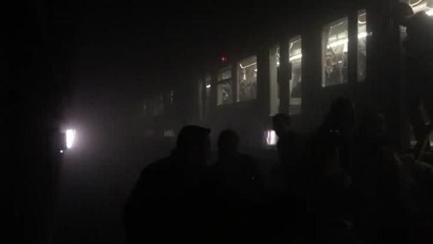 [NATL] Passengers Climb Off Train After Brussels Blast